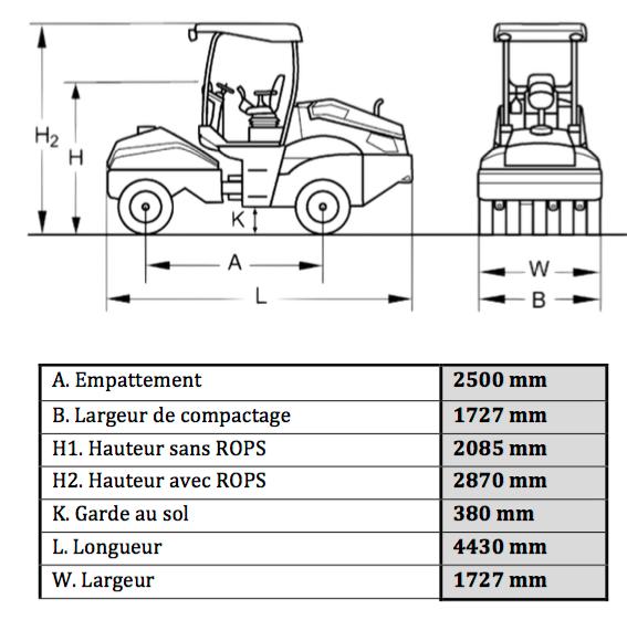 Compacteur Bomag pneumatique