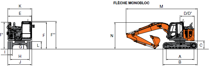 Pelleteuse 15T000 ZX 135 US-6 fiche techinque